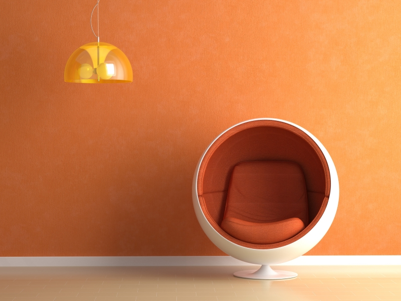 Оранжевый цвет в жилом интерьере: как правильно использовать и сочетать?