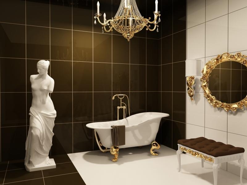 Мебель для ванных комнат в стилистике барокко