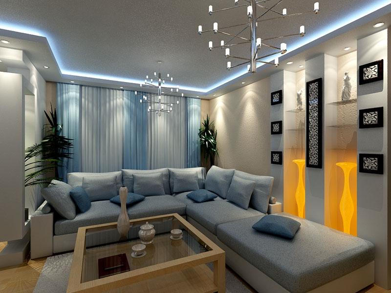 Освещение в интерьере гостиной: интересные концепции выбора осветительных приборов