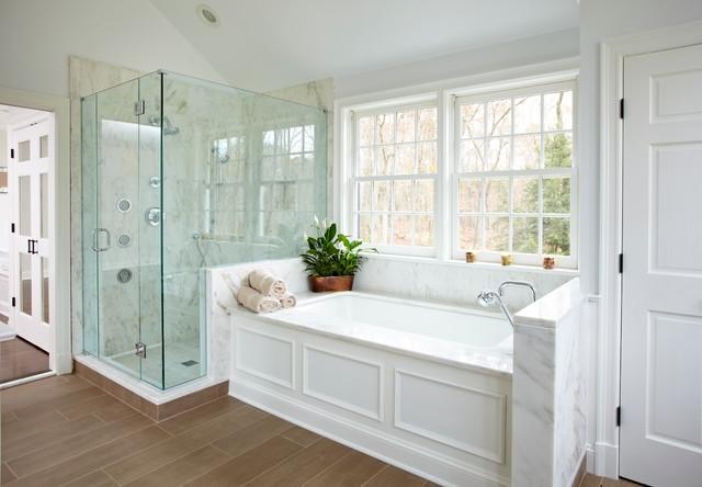 Шик и эклектика в интерьере ванной комнаты