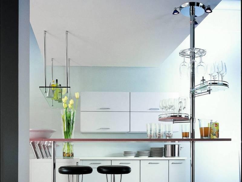 Барная стойка в гостиной и кухне: как спроектировать конструкцию и выбрать готовую модель?
