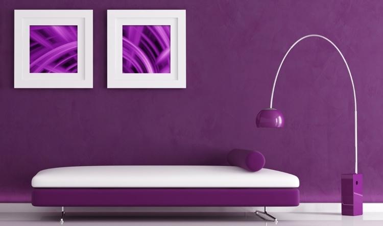 Фиолетовые и бордовые оттенки в дизайне интерьера помещения гостиной: подбираем отделку и мебель