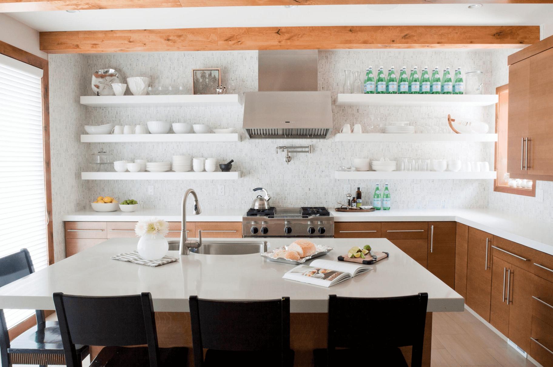 Стильная и удобная кухня: принцип создания открытого пространства
