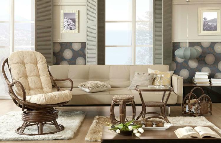 Плетеная мебель в загородном доме: основные идеи построения комфортабельного пространства