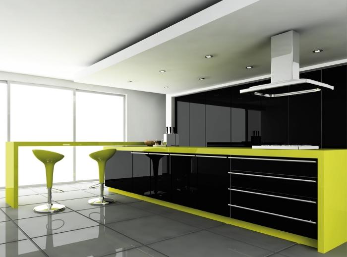 Глянцевый фасад на кухне: плюсы и минусы