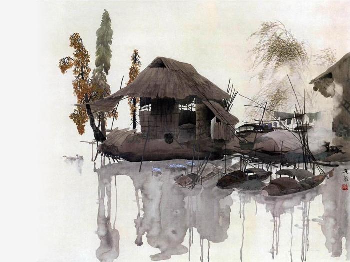Китайская живопись в гостиной: достижение идеалистического восприятия жилого интерьера
