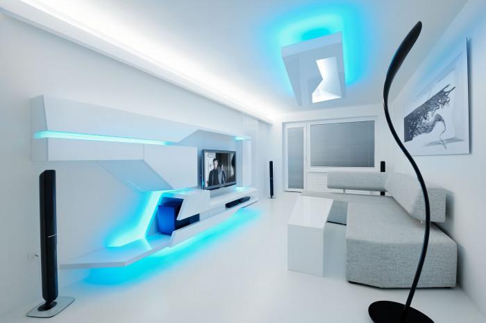 Светящаяся мебель в интерьере
