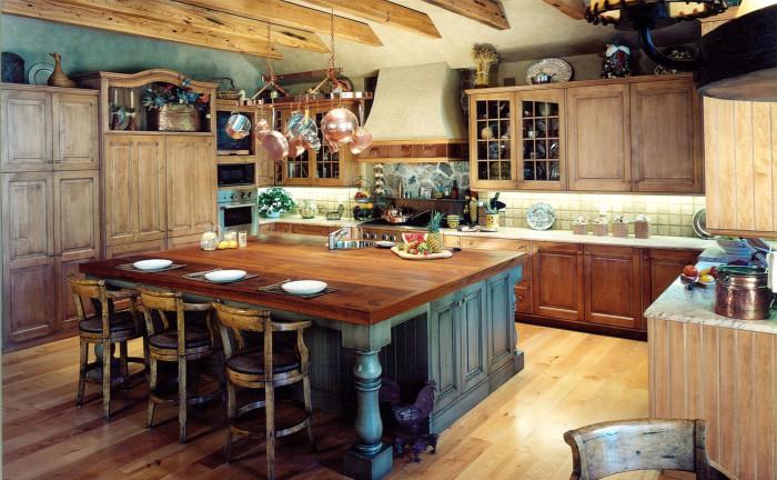 Деревенский стиль мебели в дизайнерском интерьере: способы воплощения