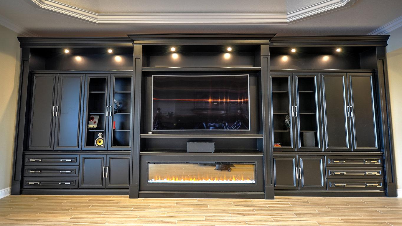 Встраиваемая мебель и шкафы для гостиной